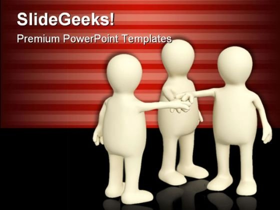 Unity Teamwork People PowerPoint Template 0810