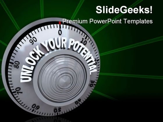 Unlock Your Potential Security PowerPoint Template 1110