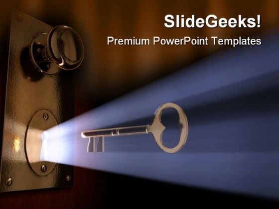 Unlocked Idea Security PowerPoint Templates And PowerPoint Backgrounds 0211