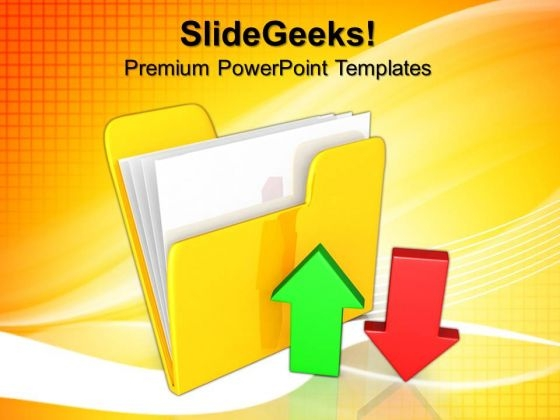 Upload Download Data Internet PowerPoint Templates And PowerPoint Themes 0712