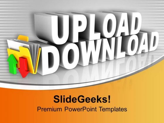 Upload Download Folder Icon PowerPoint Templates Ppt Backgrounds For Slides 0413