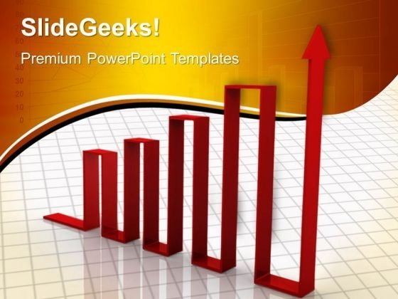 Upward Arrow Graph Business PowerPoint Templates And PowerPoint Themes 0612