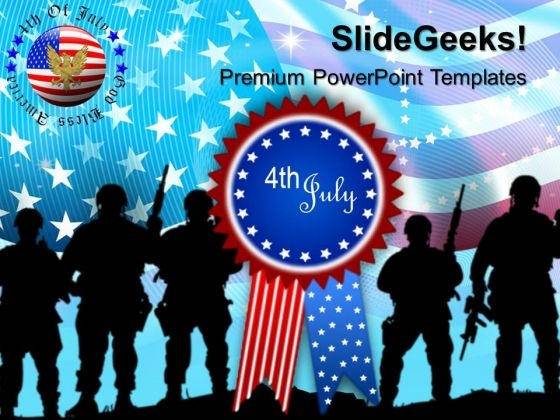 Us Army Independence Day 4th July Templates And PowerPoint Themes 0612