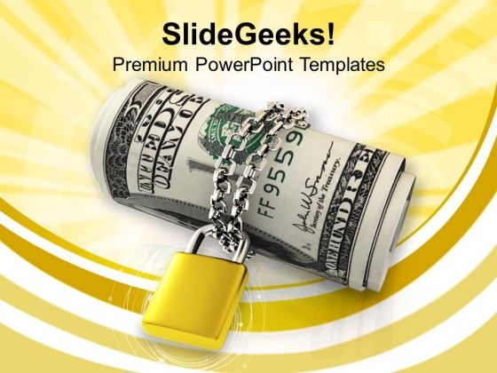 Us Dollar Locked And Chained Business PowerPoint Templates Ppt Backgrounds For Slides 1112