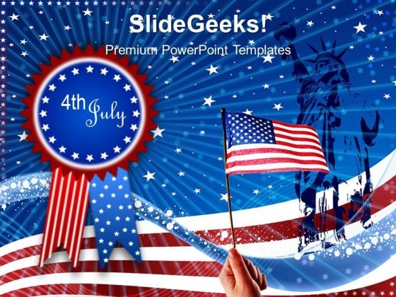 Us Flag Independence Day 4th July PowerPoint Templates And PowerPoint Themes 0612