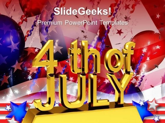 Us Independence Day July 4th PowerPoint Templates And PowerPoint Themes 0612