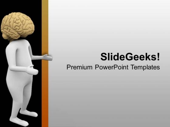 Use Brain To Select Right Path PowerPoint Templates Ppt Backgrounds For Slides 0713