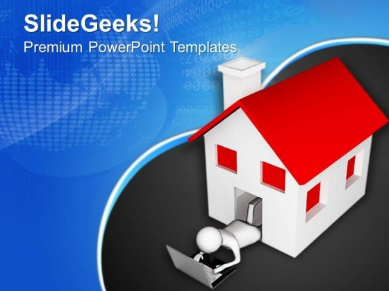 Use Internet At Home PowerPoint Templates Ppt Backgrounds For Slides 0713