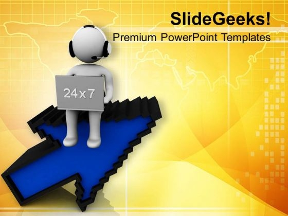 Use Internet Connectivity For Customer Care PowerPoint Templates Ppt Backgrounds For Slides 0713