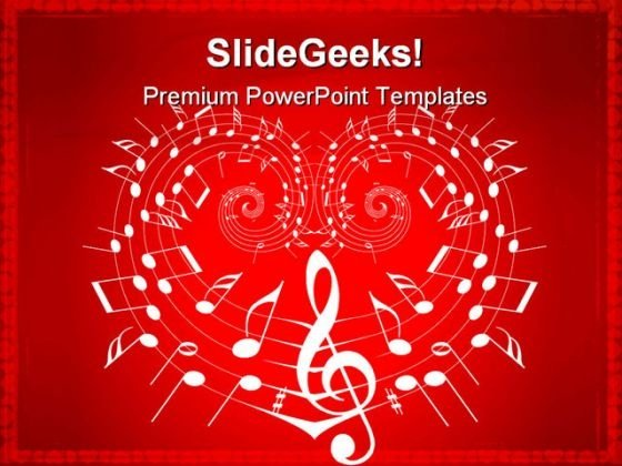 Valentine Theme Music PowerPoint Templates And PowerPoint Backgrounds 0211