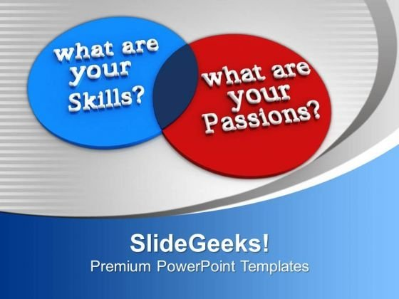 Venn Diagram Of Skills And Passions Future PowerPoint Templates Ppt Backgrounds For Slides 0113