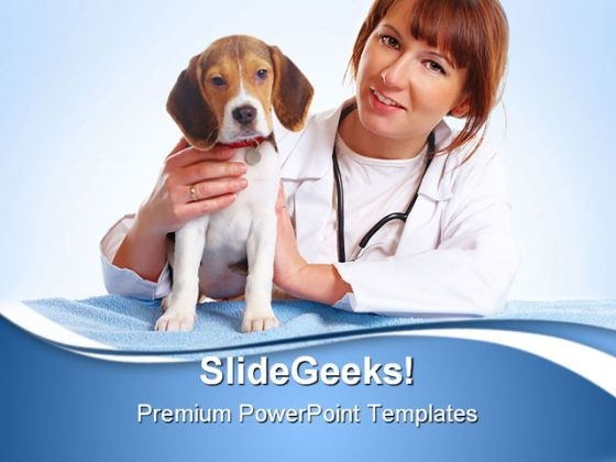 Veterinarian Doctor Medical PowerPoint Templates And PowerPoint Backgrounds 0511