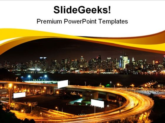 Vibrant Night Time Travel PowerPoint Themes And PowerPoint Slides 0711