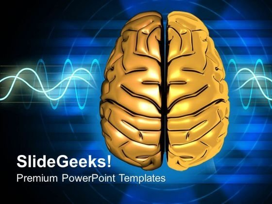 Visualization Of Human Brain PowerPoint Templates Ppt Backgrounds For Slides 0513