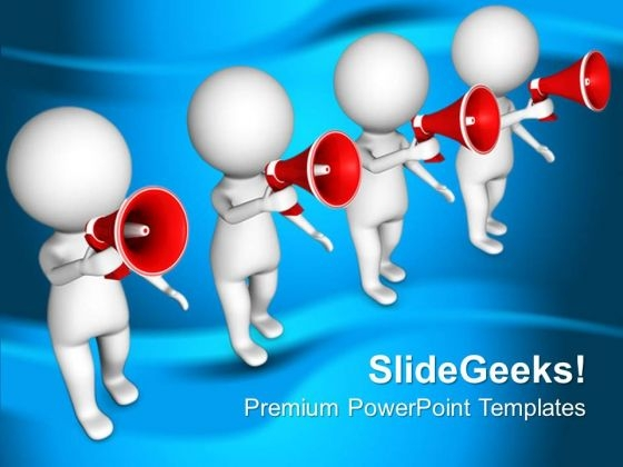 Wait For The Right Information PowerPoint Templates Ppt Backgrounds For Slides 0813