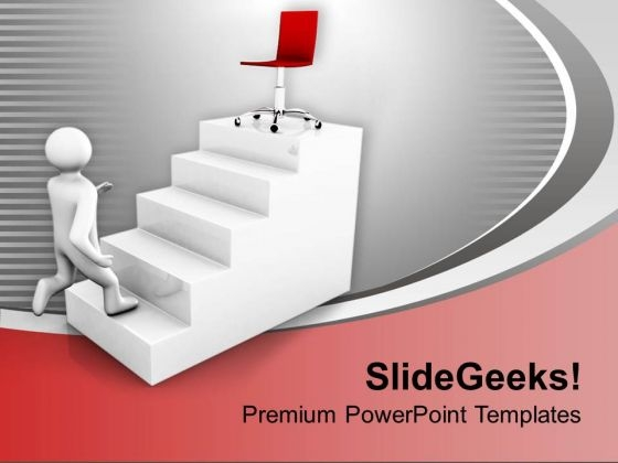 Walking On Career Ladder Business PowerPoint Templates Ppt Backgrounds For Slides 0413