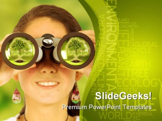Watching For Environment Globe PowerPoint Backgrounds And Templates 1210