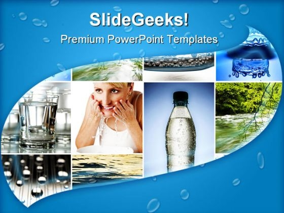 Water Collage Nature PowerPoint Themes And PowerPoint Slides 0811