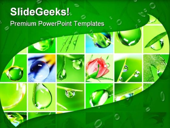 Water Drop Nature Powerpoint Templates And Powerpoint