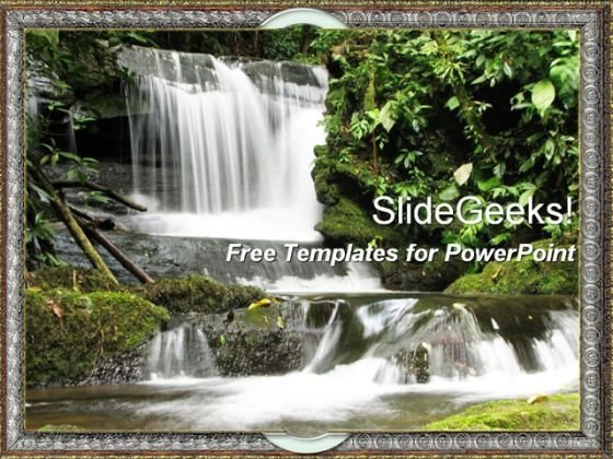 Beautiful Waterfall PowerPoint Template