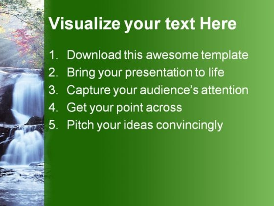 waterfall_nature_beauty_powerpoint_template_1110_text