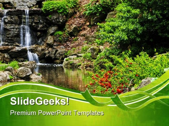 Waterfall Nature PowerPoint Templates And PowerPoint Backgrounds 0411