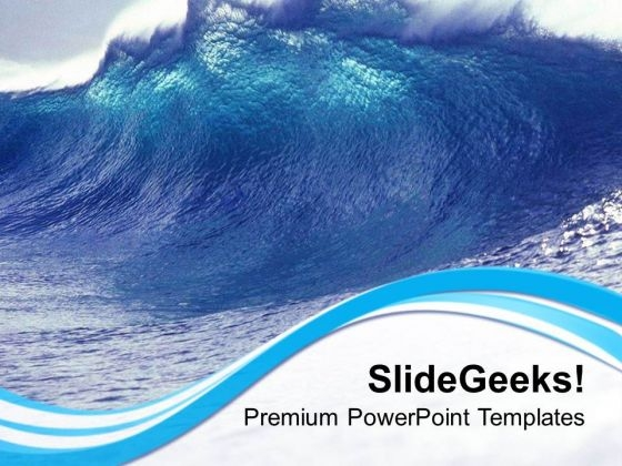 Waves Blowing Giving Rise To Tide PowerPoint Templates Ppt Backgrounds For Slides 0313