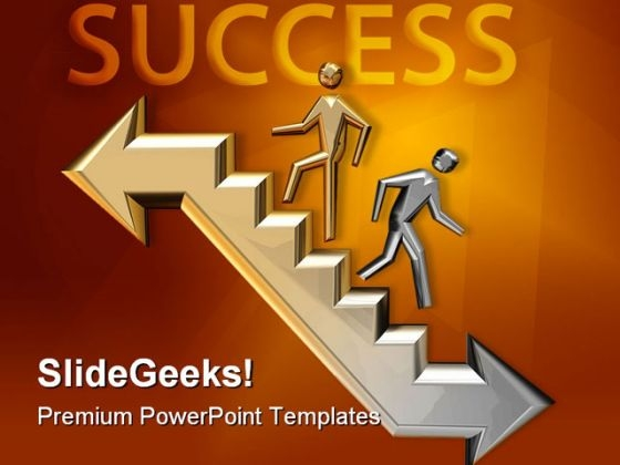 Way To Success Business PowerPoint Template 1110