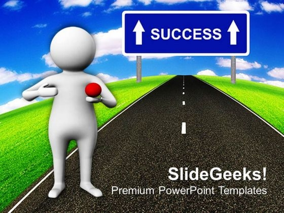 Way To Success For New Opportunities PowerPoint Templates Ppt Backgrounds For Slides 0513
