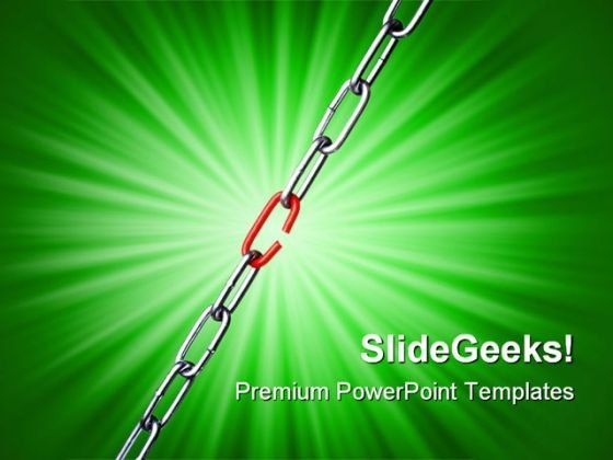 Weakest Link Business PowerPoint Templates And PowerPoint Backgrounds 0511
