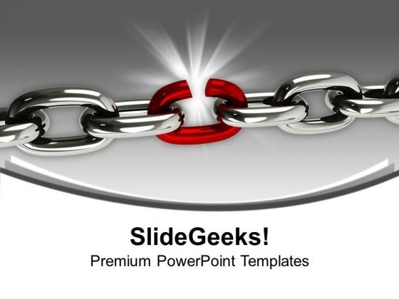Weakest Link In The Chain Business PowerPoint Templates Ppt Backgrounds For Slides 1212