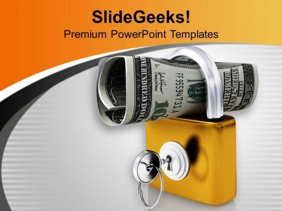 Wealth Protection With Locked Padlock PowerPoint Templates Ppt Backgrounds For Slides 0313