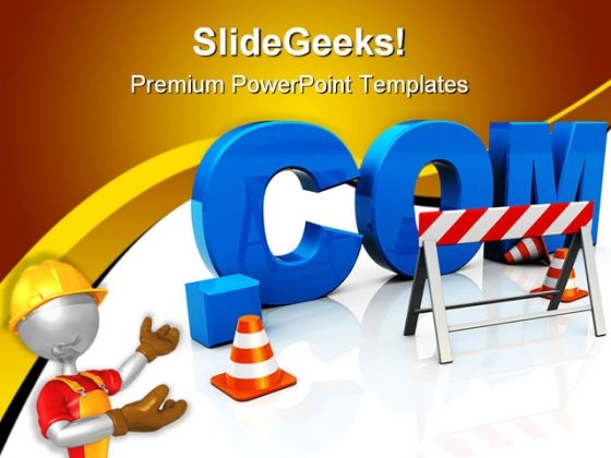 Web Construction Internet PowerPoint Templates And PowerPoint Backgrounds 0811
