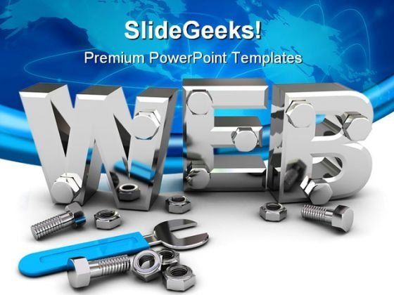Web Construction Technology PowerPoint Templates And PowerPoint Backgrounds 0211