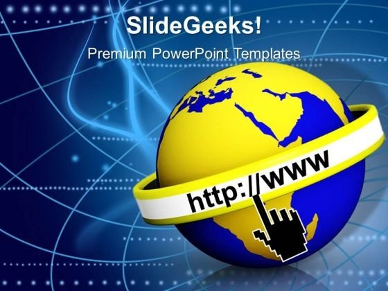 Web Earth Globe PowerPoint Templates And PowerPoint Themes 1112