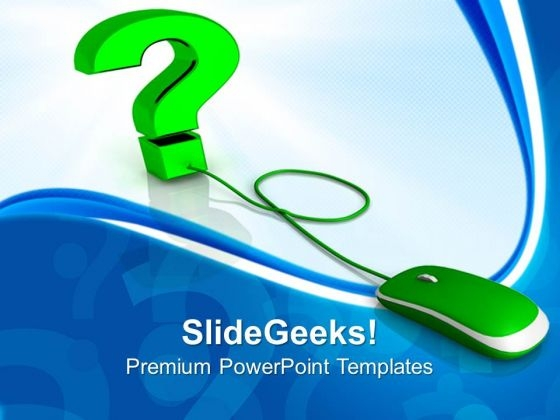 Web Question Communication PowerPoint Templates And PowerPoint Themes 0912