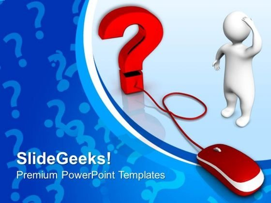 Web Question Mouse PowerPoint Templates And PowerPoint Themes 0912