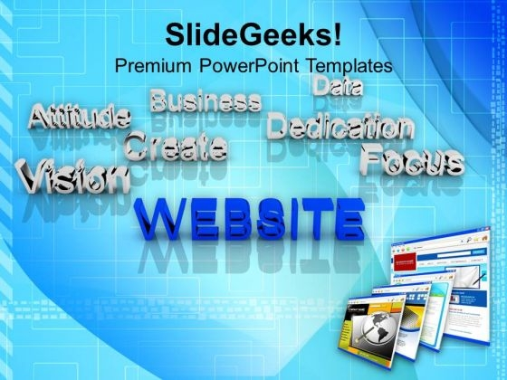 Website At Forefront Business Concept PowerPoint Templates And PowerPoint Themes 1112