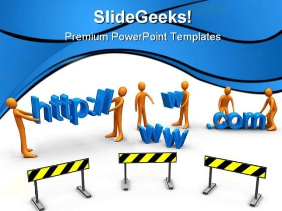 Website Construction PowerPoint Themes And PowerPoint Slides 0511