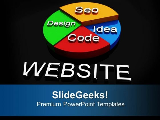 Website Pie Chart Design Seo Concept Business PowerPoint Templates Ppt Backgrounds For Slides 1112