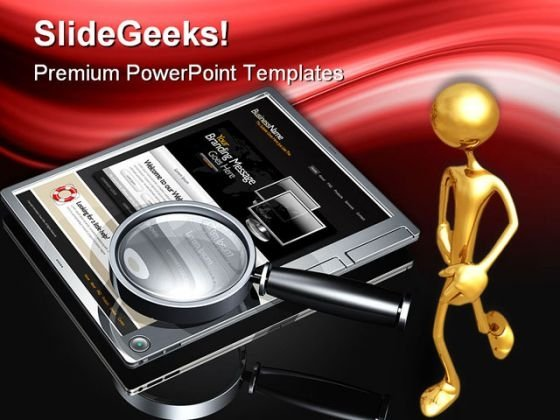 Website Search Internet PowerPoint Themes And PowerPoint Slides 0511