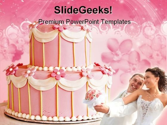 Wedding Cake Family PowerPoint Templates And PowerPoint Backgrounds 0211