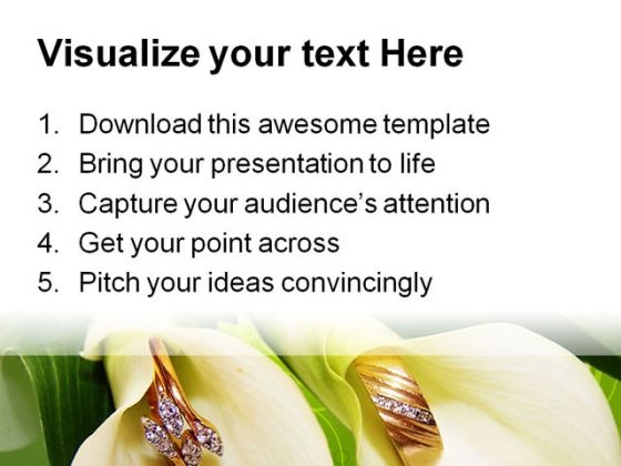 Wedding Rings Beauty PowerPoint Template 0610