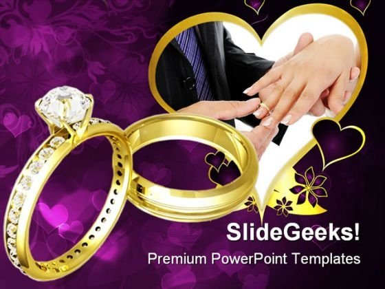 Wedding Rings People PowerPoint Templates And PowerPoint Backgrounds 0311