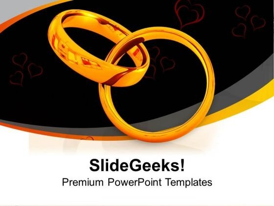 Wedding Rings Symbol Of Love PowerPoint Templates Ppt Backgrounds For Slides 0313
