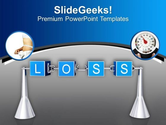 Weight Loss Is A Long Process PowerPoint Templates Ppt Backgrounds For Slides 0513