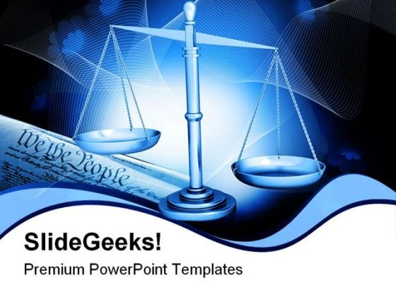 Weight Scale Law PowerPoint Templates And PowerPoint Backgrounds 0311