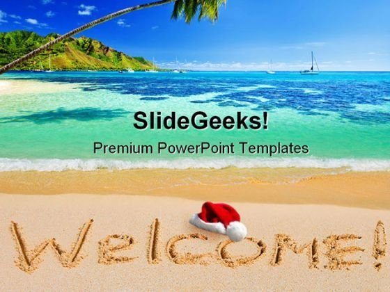 Welcome Christmas Holidays PowerPoint Backgrounds And Templates 0111