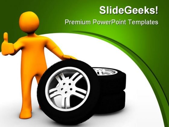 Wheel Garage Industrial PowerPoint Templates And PowerPoint Backgrounds 0711