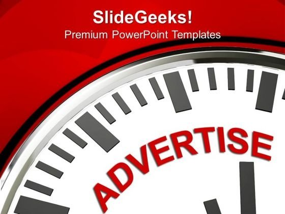 White Clock With Advertise PowerPoint Templates And PowerPoint Themes 1112